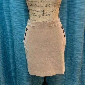 Banana Republic Tan Corduroy Mini Skirt | 8